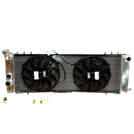 Radiateur aluminium avec 2 ventilateurs XJ 97-01