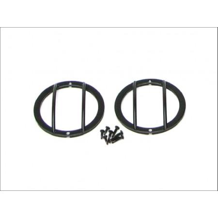 Grille de protection noire  de clignotant lateral BLANC  JK uniquement US