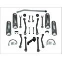 """Kit de rehausse Rubicon Super Flex Short Arm 3,5"""" avec amortisseurs - Wrangler JK Unlimited"""