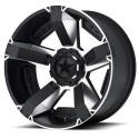Jante aluminium KMC XD Serie rockstar 2 noire et chromee Dodge Ram 1500 4WD