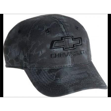 Casquette chevrolet camouflage gris et noir logo chevrolet brode