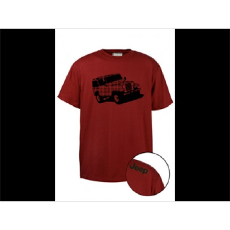 Tee shirt Jeep rouge