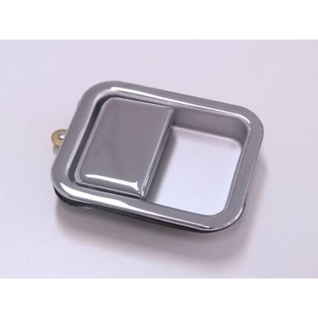 Poignee encastree exterieure chromee, droit, pour porte acier , YJ