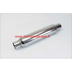 "Silencieux Glaspack acier inox, longueur 36 cm O 63 mm 2"" 50"