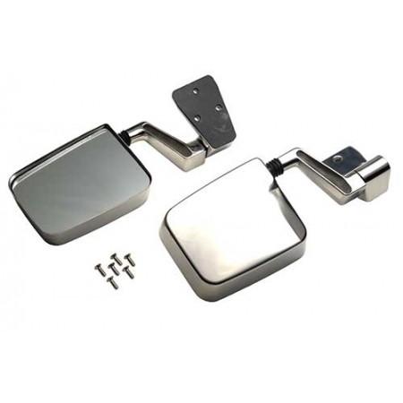 Retroviseurs exterieur, acier inox, TJ, la paire