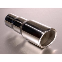 Enjoliveur d échappement en acier inox, longeur 17,5cm Ø entrée 2,25' Ø sortie 65mm