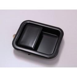 Poignee encastree exterieure pour porte metallique , droit noir, YJ