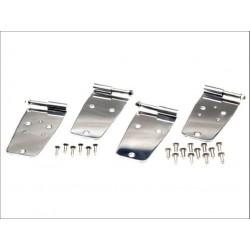 Kit de ferrures de porte, acier inox, 4 elements, portes d acier avec trou r鴲oviseurs, CJ,YJ,