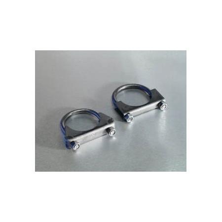 Collier de tuyau d échappement, Ø 2,25' : 63 à 65 mm acier inox