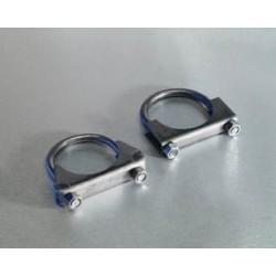 Collier de tuyau d échappement, Ø 2,25' : 57 mm acier inox, YJ/TJ