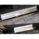 Protections de seuil de porte avant + arrière, acier inox 4 éléments, Wrangler JK