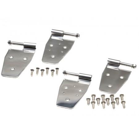 Kit de ferrures de porte, acier inox, 4 鬩ments, demi portes d acier, YJ,