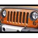 Grille de protection radiateur 3D Rugged Ridge pour Jeep Wrangler JK. Couleur: Noir.