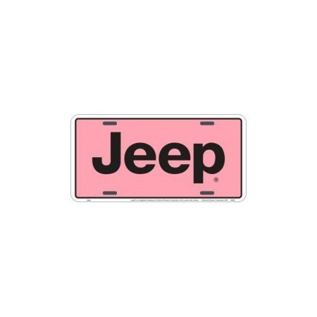 Plaque metal JEEP rose